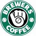 Milwaukee Brewers Starbucks Coffee Logo iron on sticker
