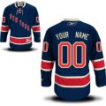 New York Rangers Custom Letter and Number Kits for Blue Reebok Jersey