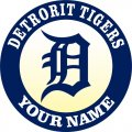 Detroit Tigers Customized Logo decal sticker