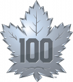Toronto Maple Leafs 2016 17 Anniversary Logo iron on sticker