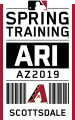Arizona Diamondbacks 2019 Event Logo iron on sticker