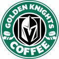 Vegas Golden Knights Starbucks Coffee Logo iron on sticker