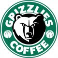 Memphis Grizzlies Starbucks Coffee Logo decal sticker
