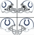 Indianapolis Colts Helmet Logo iron on sticker
