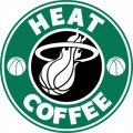 Miami Heat Starbucks Coffee Logo decal sticker