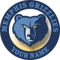 Memphis Grizzlies Customized Logo iron on sticker