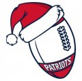 New England Patriots Football Christmas hat logo decal sticker