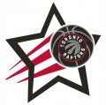 Toronto Raptors Basketball Goal Star logo iron on sticker