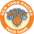 New York Knicks Customized Logo iron on sticker