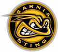 Sarnia Sting 2014 15-2018 19 Primary Logo iron on sticker