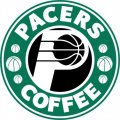 Indiana Pacers Starbucks Coffee Logo decal sticker