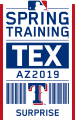 Texas Rangers 2019 Event Logo iron on sticker