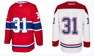 Montreal Canadiens twill jersey numbers