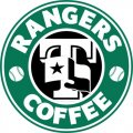 Texas Rangers Starbucks Coffee Logo iron on sticker