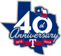 Texas Rangers 2012 Anniversary Logo iron on sticker