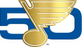 St. Louis Blues 2016 17 Anniversary Logo decal sticker