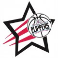 Los Angeles Clippers Basketball Goal Star logo iron on sticker