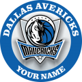 Dallas Mavericks Customized Logo iron on sticker