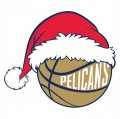 New Orleans Pelicans Basketball Christmas hat logo iron on sticker