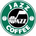 Utah Jazz Starbucks Coffee Logo decal sticker