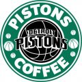 Detroit Pistons Starbucks Coffee Logo decal sticker