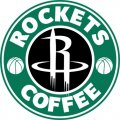 Houston Rockets Starbucks Coffee Logo decal sticker