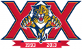Florida Panthers 2013 14 Anniversary Logo decal sticker