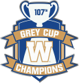 Winnipeg Blue Bombers 2019 Champion Logo iron on sticker