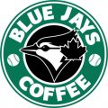 Toronto Blue Jays Starbucks Coffee Logo iron on sticker