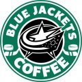Columbus Blue Jackets Starbucks Coffee Logo iron on sticker