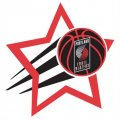 Portland Trail Blazers Basketball Goal Star logo iron on sticker