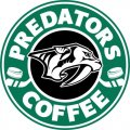 Nashville Predators Starbucks Coffee Logo iron on sticker