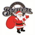 Milwaukee Brewers Santa Claus Logo iron on sticker