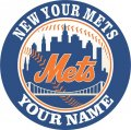 New York Mets Customized Logo decal sticker