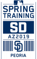 San Diego Padres 2019 Event Logo iron on sticker