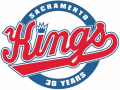 Sacramento Kings 2014-2015 Anniversary Logo iron on sticker