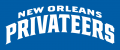 New Orleans Privateers 2013-Pres Wordmark Logo 08 iron on sticker