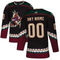 Phoenix Coyotes Custom Letter and Number Kits for Black Jersey