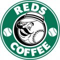 Cincinnati Reds Starbucks Coffee Logo iron on sticker