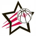 Houston Rockets Basketball Goal Star logo iron on sticker