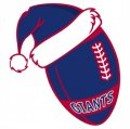 New York Giants Football Christmas hat logo decal sticker