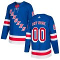 New York Rangers Custom Letter and Number Kits for Blue Jersey