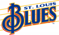St. Louis Blues 1995 96-1997 98 Wordmark Logo decal sticker