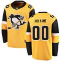 Pittsburgh Penguins Custom Letter and Number Kits for Gold Jersey