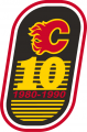 Calgary Flames 1989 90 Anniversary Logo decal sticker