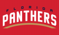 Florida Panthers 2016 17-Pres Wordmark Logo 02 iron on sticker