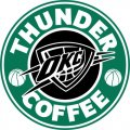 Oklahoma City Thunder Starbucks Coffee Logo decal sticker