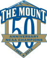 Mount St. Marys Mountaineers 2012 Anniversary Logo 01 iron on sticker