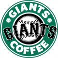 San Francisco Giants Starbucks Coffee Logo iron on sticker