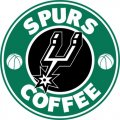 San Antonio Spurs Starbucks Coffee Logo decal sticker